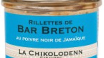 Chikolodenn : Rillettes de Bar Breton ( 90g )