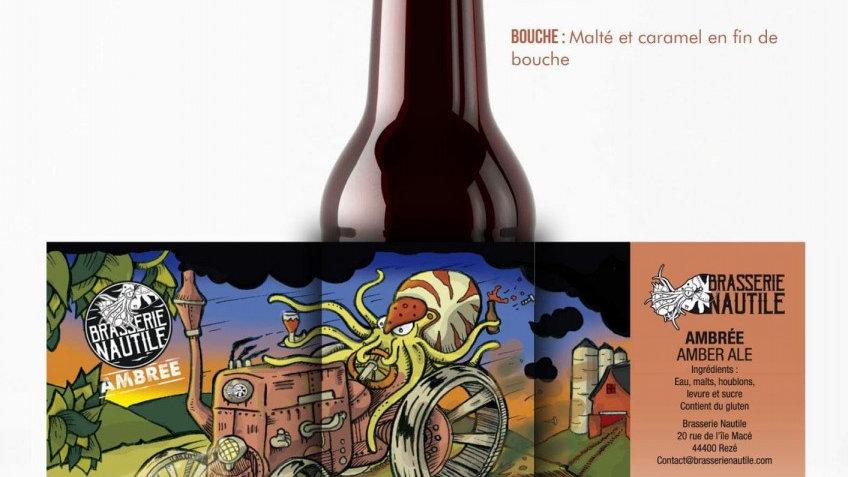 """Bière artisanale  Nautile """" Ambrée """""""