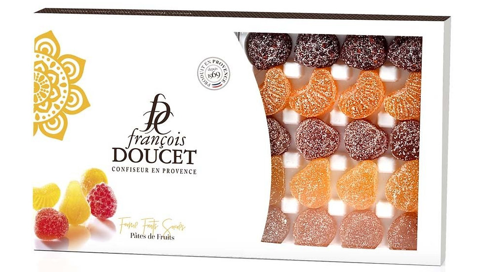Pâtes de fruits forme fruits sucrés