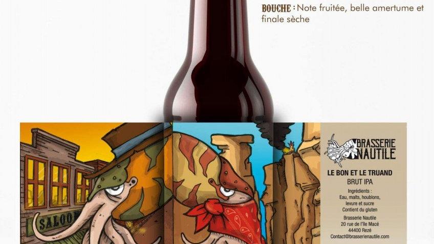 """Bière artisanale  Nautile """" Le Bon et le Truand """""""