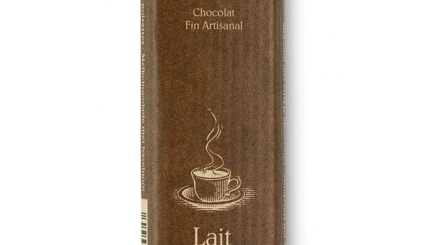 Barre de chocolat lait & noisettes