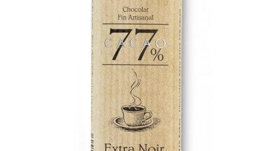 Barre de chocolat  extra noir 77%