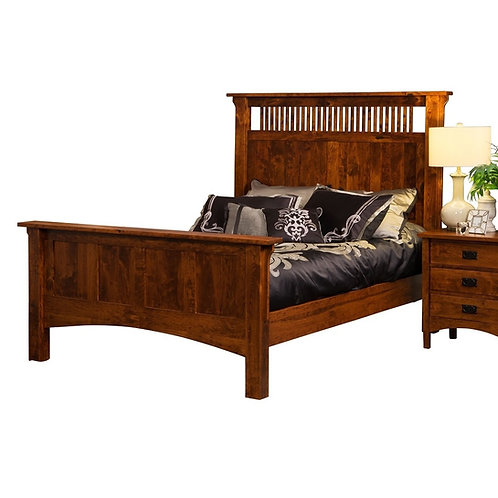 Arts & Crafts Tall Spindle Bed