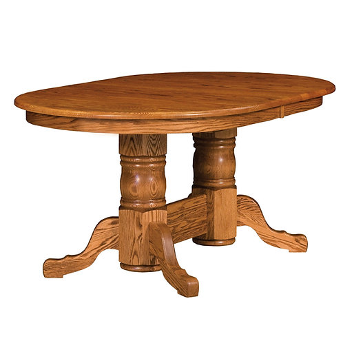 Traditional Double Pedestal Table