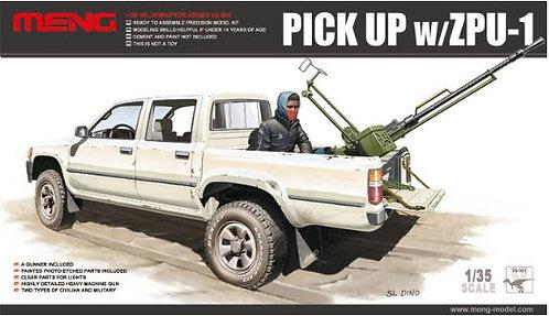 Picape com metralhadora ZPU-1 - 1/35 - Kit Meng