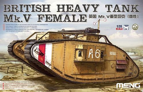 Tanque pesado britânico Mk.V Female - 1/35 - Kit Meng