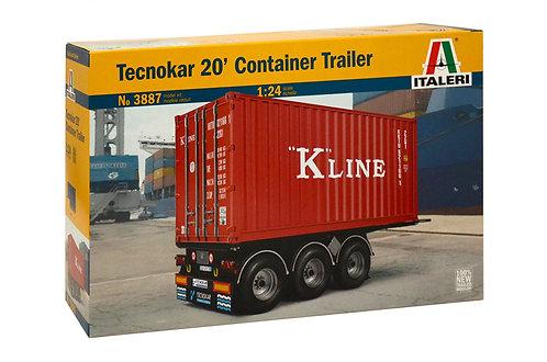 Reboque container de 20 pés Tecnokar - 1/24 - Italeri