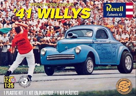 Kit para montar Stone/Woods/Cook 41 Willys (SSP) - 1/25 - Revell