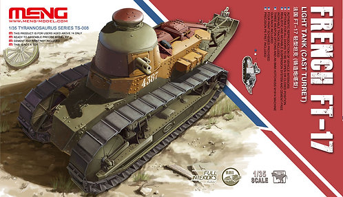 Tanque leve FT-17 (Cast Turret) - França - 1/35 - Kit Meng
