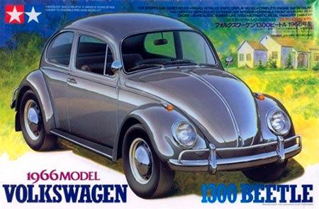 Fusca Volkswagen VW 1300 Beetle 1966 - 1/24 - Kit Tamiya