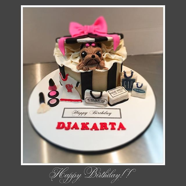 So this is my special cake I was working on earlier Djakarta really wants a dog but for many reasons