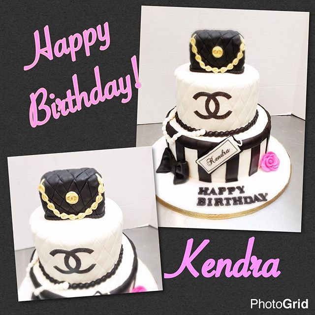The snow doesn't stop a celebration Happy Birthday Kendra two weeks later! Edible purse, Red Velvet