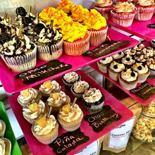 Cupcakes Cupcakes Cupcakes stop by we are open till 5pm! Baked with love from scratch this morning 💕💕 #leileiscuisine #cupcakes #yummy #happ