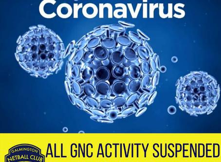 CORONAVIRUS - ALL GNC ACTIVITY SUSPENDED UNTIL FURTHER NOTICE