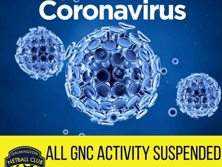 CORONAVIRUS - ALL GNC ACTIVITY SUSPENDED UNTIL FURTHER NOTICE