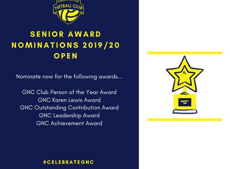 GNC 2019/20 Season Awards & Criteria Announced
