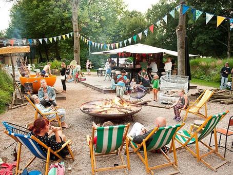 Festival stijl kamperen