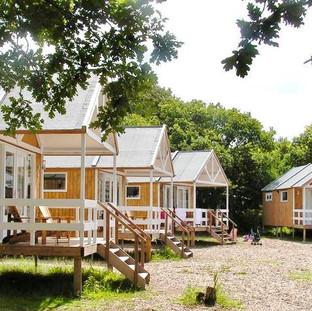 Ontwerpen van de strandhuisjes bij de Kennemerduincampings