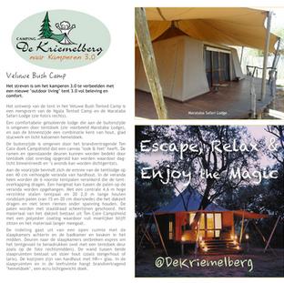 Nieuwe kampeerconcept nabij Ermelo
