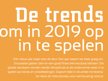 De trends om in 2019 op in te spelen
