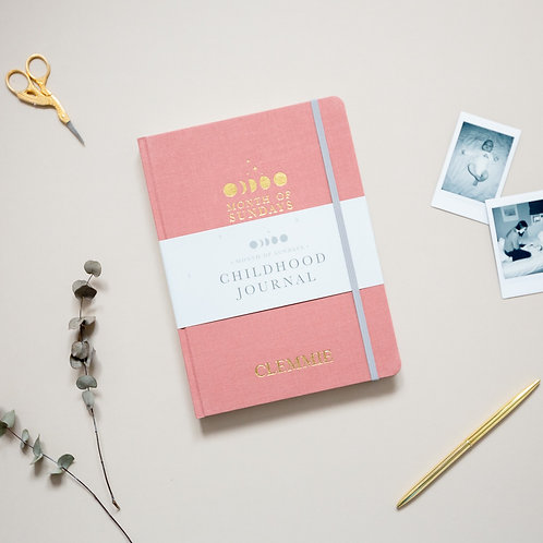 'Blush' Personalised Childhood Journal