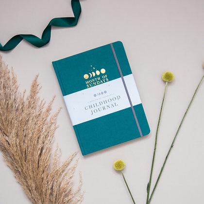 'Forest' Personalised Childhood Journal