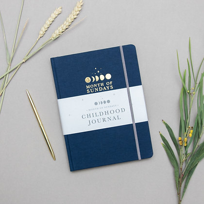 'Midnight' Personalised Childhood Journal