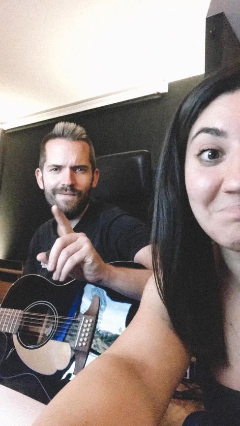JULIAN WEISS WITH HIS FRIEND AND SINGER NINA ROSSETTI I PHOENIX STUDIOS I JUNE 2019