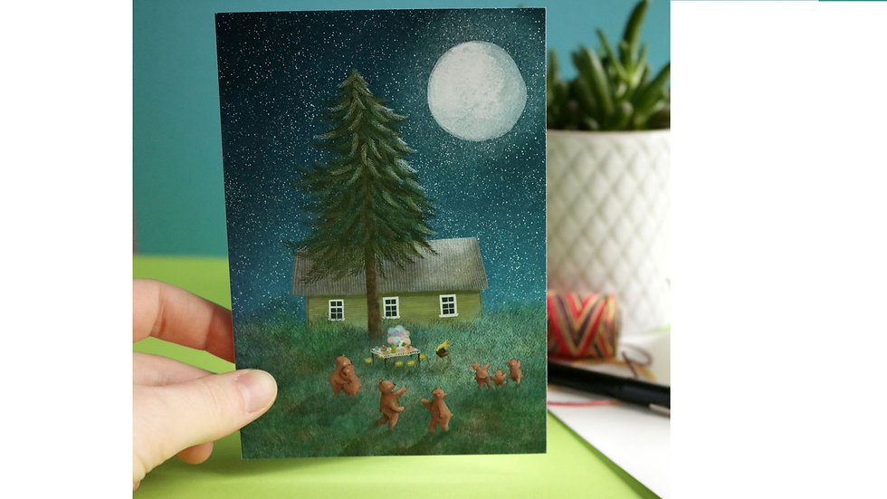 """Greeting Card """"Dancing Under the Moonlight"""""""