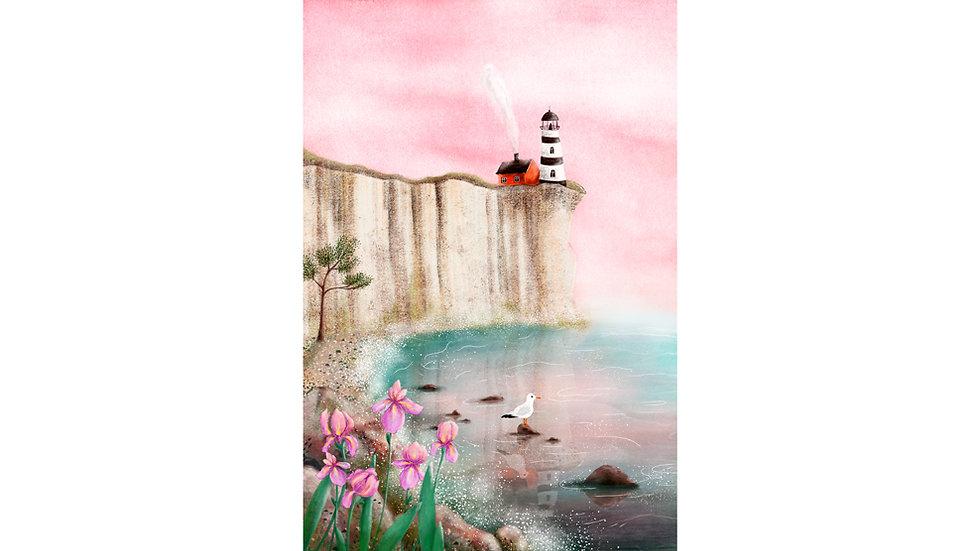 """Irises by the Sea"" Art Print"