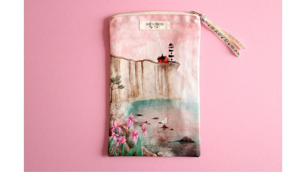 "Zipper Pouch Bag ""Irises By The Sea"""