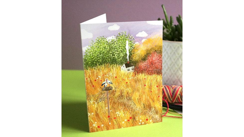 "Greeting card ""Golden Wheat Fields"""