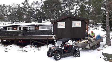 Påbygg av hytte - ferdig