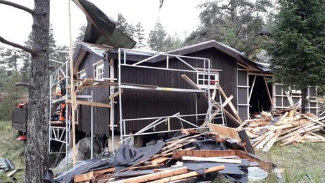 Påbygg av hytte