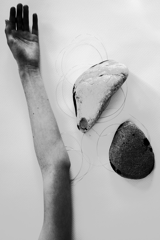 Meditation on Stones. A Body.