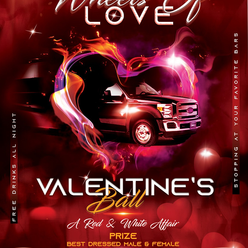 Wheels of Love Valentines ball on board ANWA'S LUXURIOUS ENTERTAINMENT BUS!