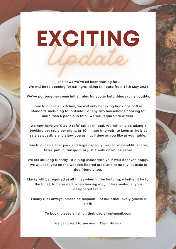 Chieftain Restaurant Reservation Poster.