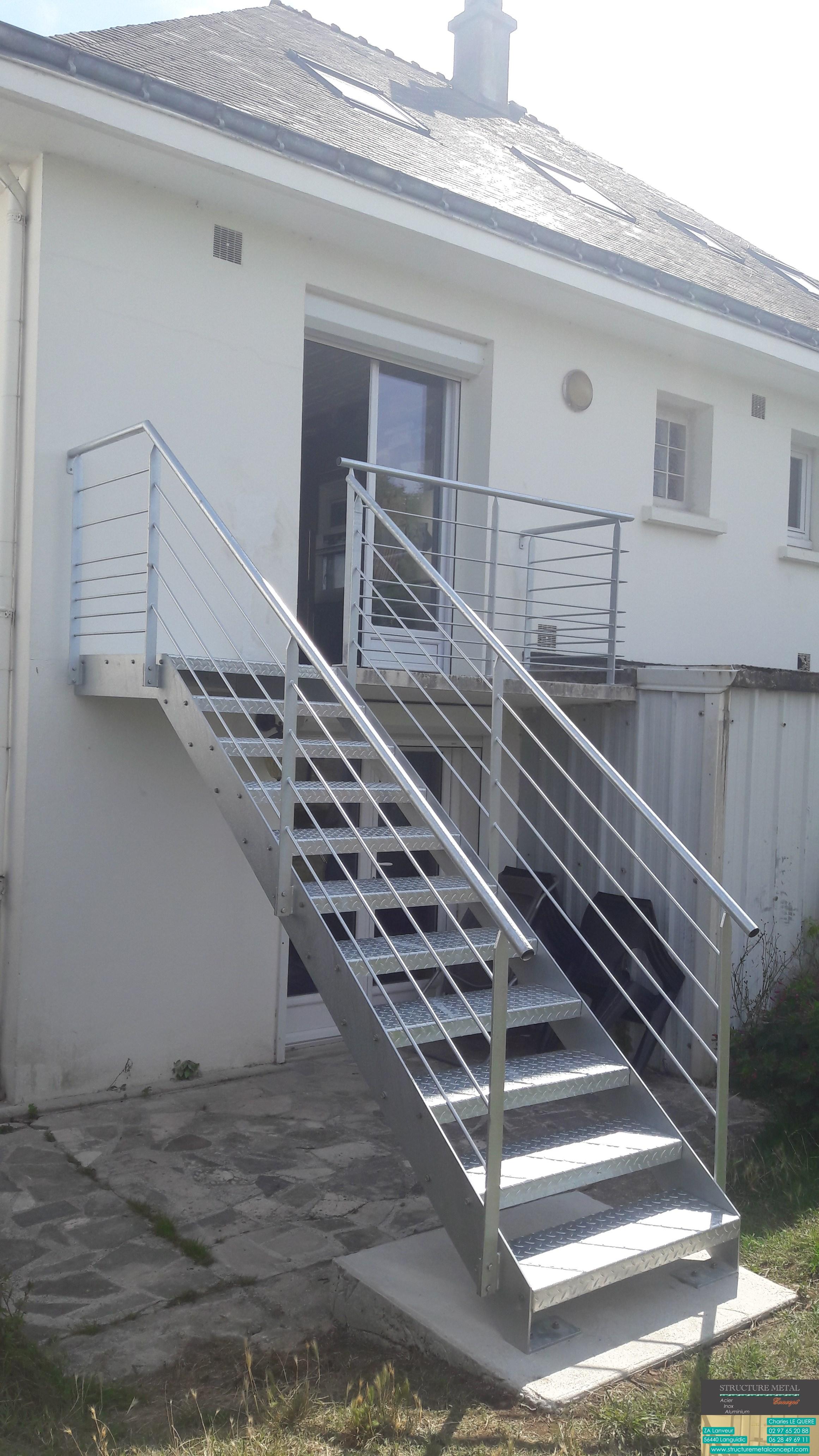 Garde Corps Exterieur Pas Cher escalier extérieur