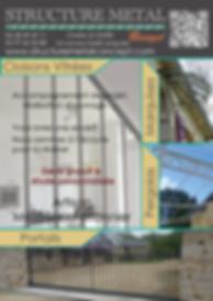 Structure métal concept escalier, pergola, garde cors, verire, arquise, cloison vitrée