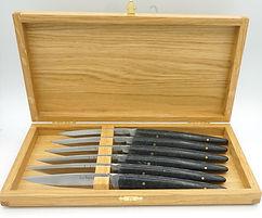Couteau de table en pierre de Kersantite. Fabrication artisanale Bretonne. Jacques le Quéré. Auray