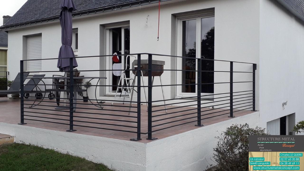 Garde Corps Exterieur Pas Cher fabrication   structure métal concept   france   lorient