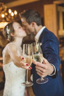 wedding toast photography