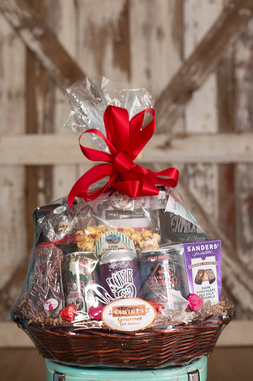 Valentine Beer Basket
