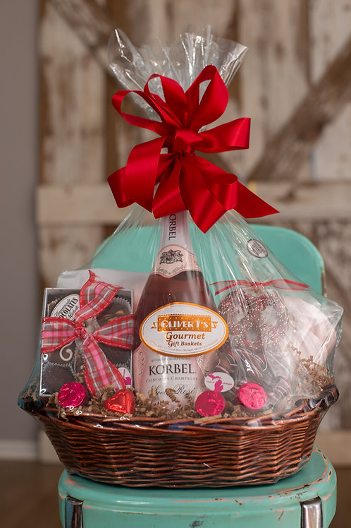Valentine Champagne Basket