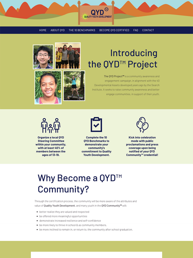 THE QYD PROJECT WEBSITE