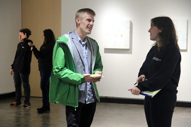 CHAMPLAIN COLLEGE ART GALLERY OPENING