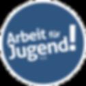 arbeit-fuer-jugend-logo-weiss-auf-blau-k