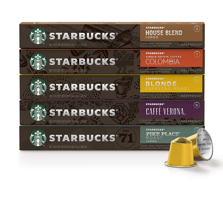 100 קפסולות קפה Starbucks במגוון טעמים שונים לבחירה