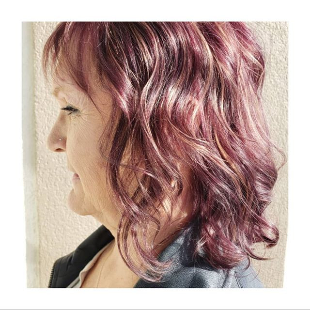 To keep your red and violet hair color v
