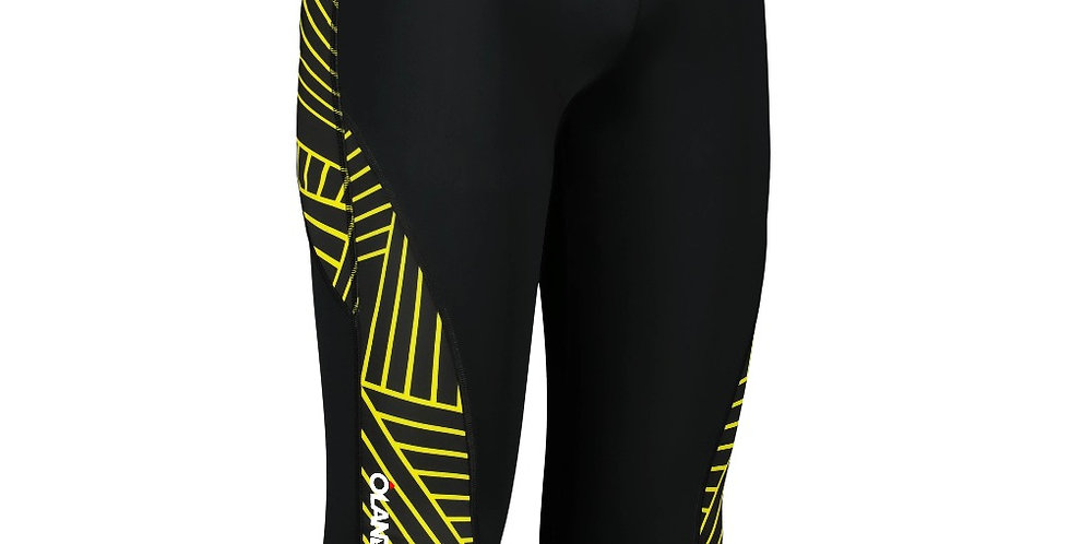 Orienteering 3/4 Tights - Black/Yellow men's
